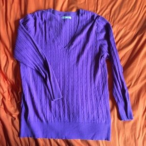 Purple Cable Knit Design Old Navy Sweater, XXL