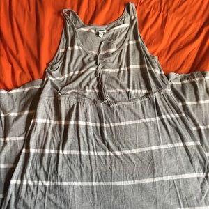 Gray/White Old Navy Maxi Dress, 2X