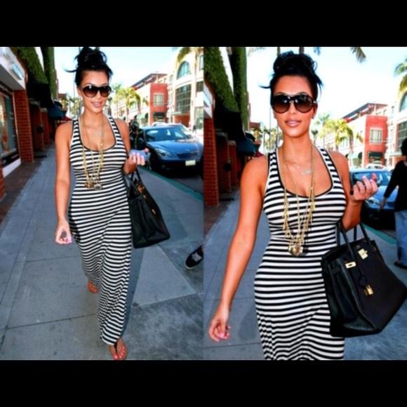 Striped Racerback Maxi Dress