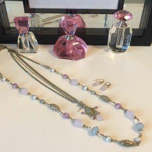 Avon Antique Necklace, Bracelet and earrings set