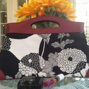 Susy Chen Handbags - Rare! Susy Chen Leather & Canvas Clutch