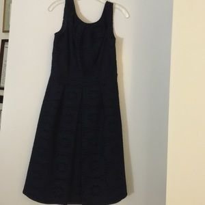 Adrianna Pappell navy blue dress