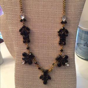 Black Gem Statement Necklace