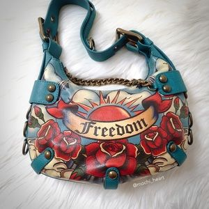 Isabella Fiore Handbags - Isabella Fiore • gold chain teal freedom hobo bag