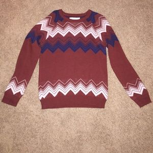 Burnt orange patterned sweater