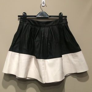 ASOS Vegan Leather Skater Mini Skirt