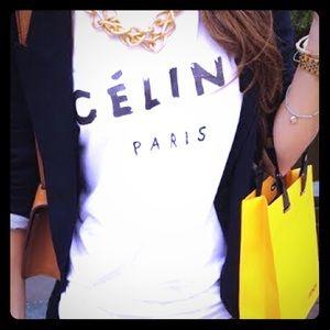 Celine t shirt on Poshmark