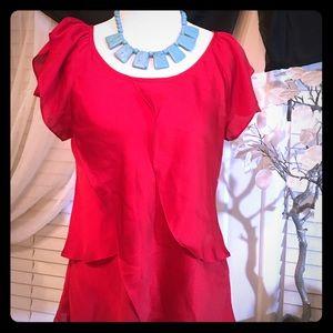 Violet & Claire Tops - Violet & Claire red blouse