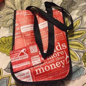 Lululemon coin bag and shopping bag