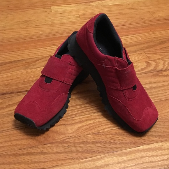 73% off Diesel Shoes - Women's Diesel Red Suede Shoes from ...