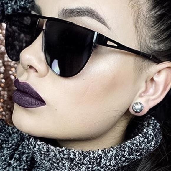 22f3e37a4c5 Accessories - Black Full Metal Flat Top Aviator Sunglasses