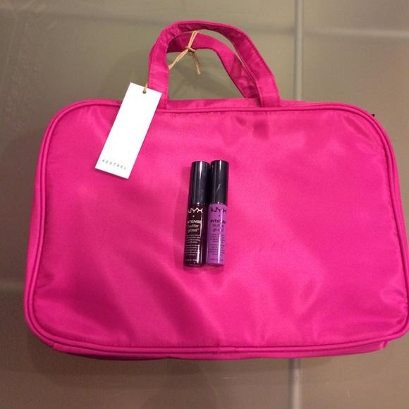 Kestrel Bags New Weekender Pink Makeup Bag Nyx Btrgloss