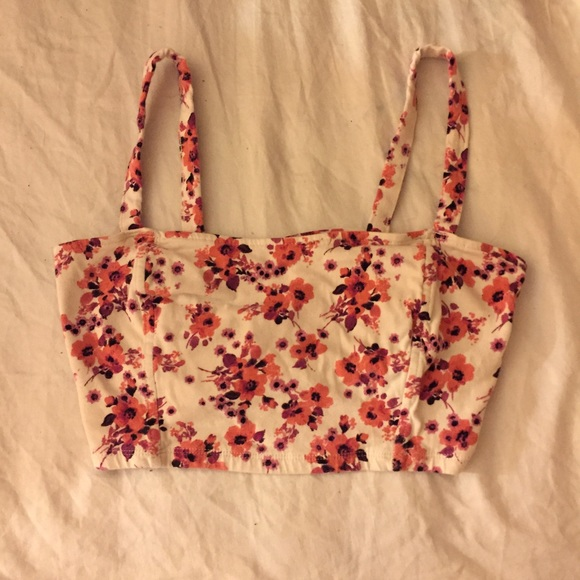 e1229a5ad7f6f Brandy Melville Other - Caged back floral bralette