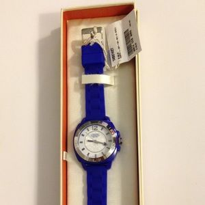 💙NWT Coach Blue Silicon Boyfriend Watch⏱