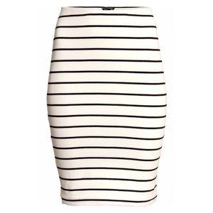 h&m • stripe skirt