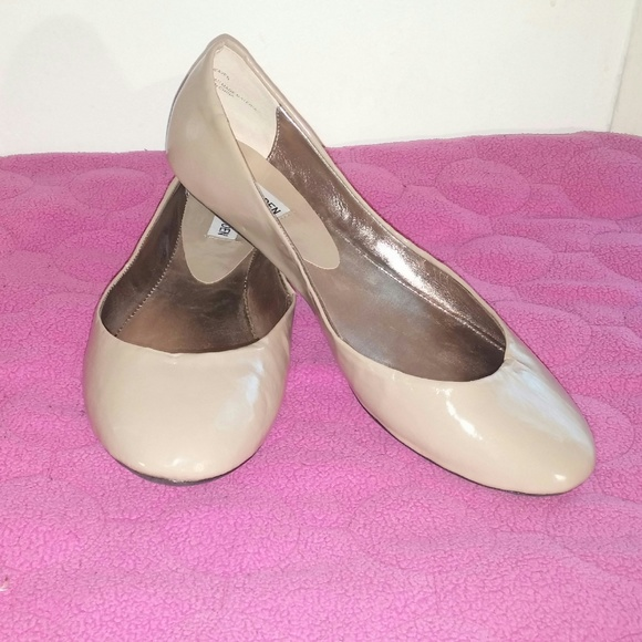 2372ab0d924 Steve Madden Patent Taupe P-Heaven flats