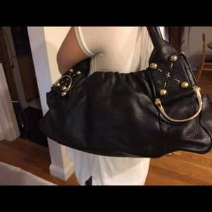 Charles David Black Leather Handbag