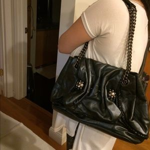 Betsy Johnson leather handbag