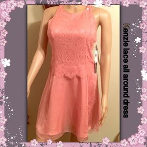 kenzie Dresses & Skirts - Kenzie nectar colored lace  summer dress sz 12