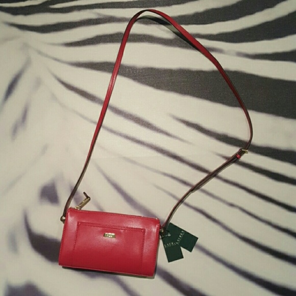 dae46466d504 Ralph Lauren Bags | Lowell Crossbody Red Purse | Poshmark