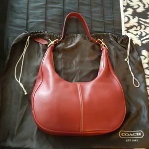 Coach Handbags - Price Drop🍾 COACH --Candy Apple Red Hobo