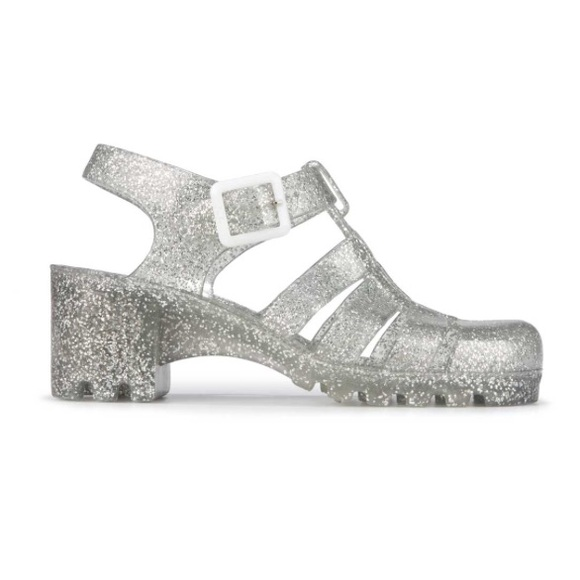 9b252a2dd6b Urban Outfitters Shoes | Clear Glitter Jelly Sandals | Poshmark