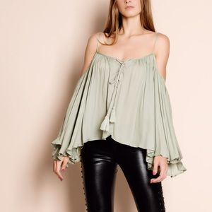 "Bare Anthology Tops - ""Stars"" Off Shoulder Bell Sleeve Top"