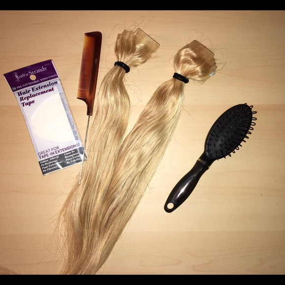 Satin Strands Other Remy Human Hair Extensions Kit Sahara Blonde