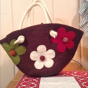Felted Wool Bucket Bag