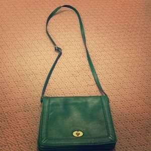 Green cross body satchel