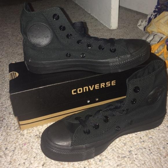 f06a4dbb62a903 Converse Shoes - All black Converse high tops 👟