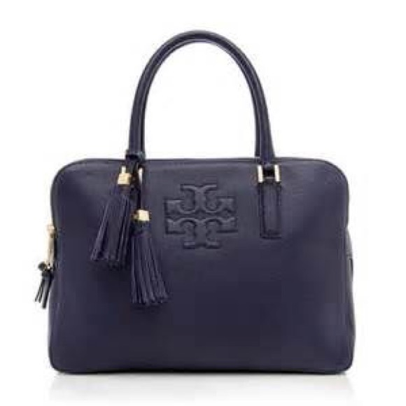 06e9f16a77c 💙Tory Burch Thea Triple Zip Satchel in Navy NWT💙