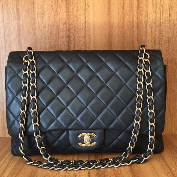 CHANEL Bags   Authentic Classic Maxi Gold   Poshmark 5e76f3880d