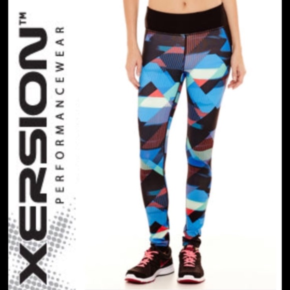 3aca35be49 Xersion Pants   Nwt Marfa Multi Color Block Leggings L   Poshmark