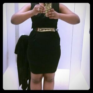 Dresses & Skirts - *NEW With Tags* Black Dress with Gold Belt