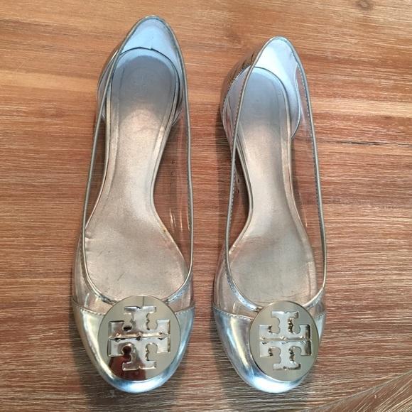 Tory Burch Audrey Lucite Ballet Flat Clear/Silver