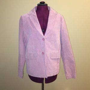 NWT Wilson's Leather pink suede jacket, size XL