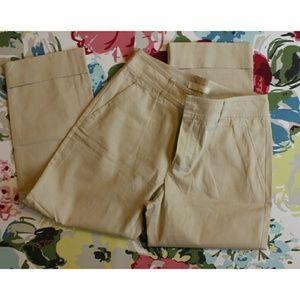 MaxMara Pants - MaxMara cuffed khaki capris