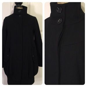 ASOS black wool blend coat