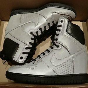Nike Shoes - Nike Sky Hi Reflective Sneaker Boots Size 5.5 -New