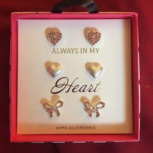 Always In My Heart triple earring post set 1 of 3