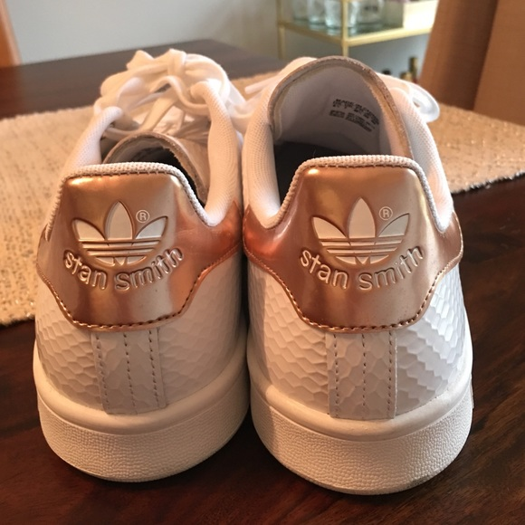 c6b80ea8d4f Adidas Shoes - Rose Gold Adidas Stan Smiths