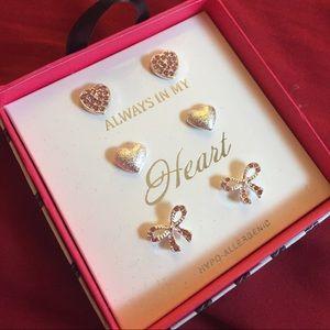 Always In My Heart triple earring post set 2 of 3