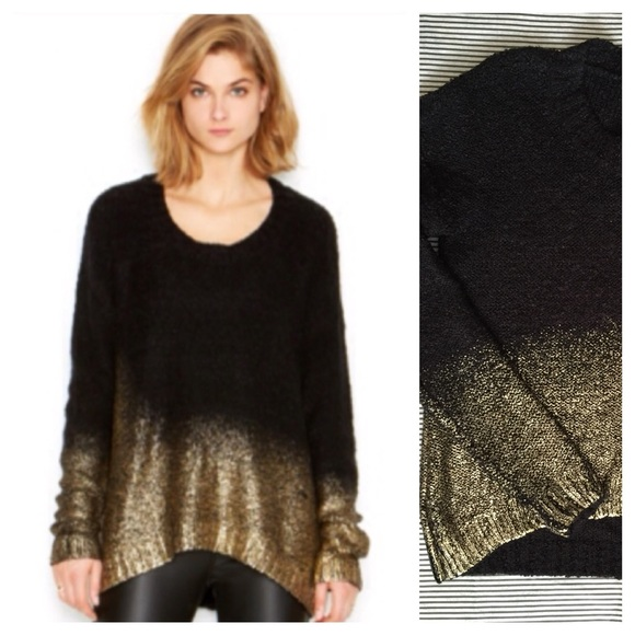 61% off Bar III Sweaters - Bar III Black-Gold Ombre Sweater from ...