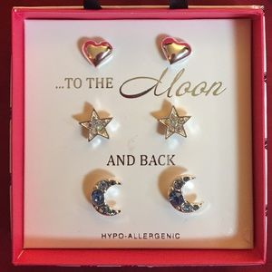 ...To The Moon And Back earring post set 3 of 3