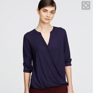 Ann Taylor Tops - Ann Taylor navy drape top, size M
