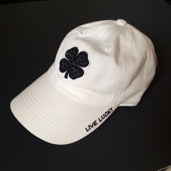 White Black Clover Baseball Cap e5c8e520c66