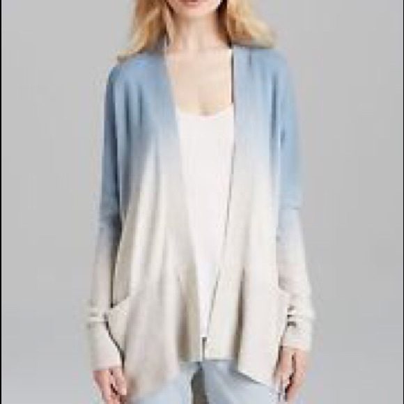 83% off Vince Sweaters - VINCE cashmere open cardigan in blue ...
