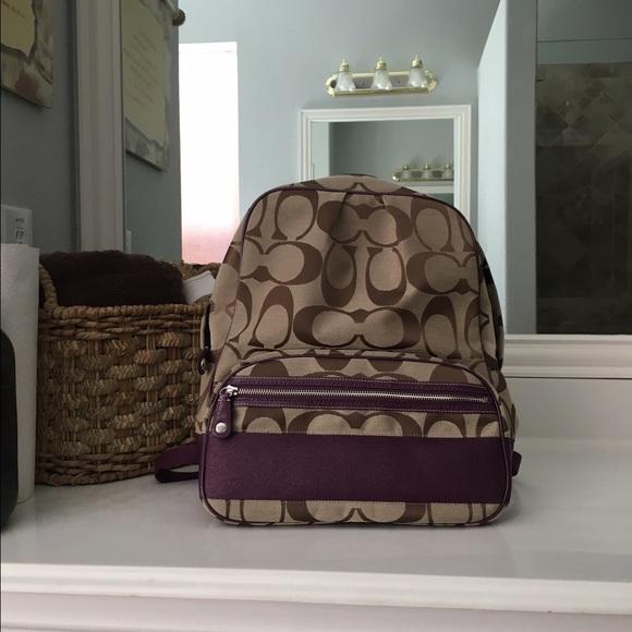 ba4c659728 Coach Handbags - Coach F77171 signature women s backpack