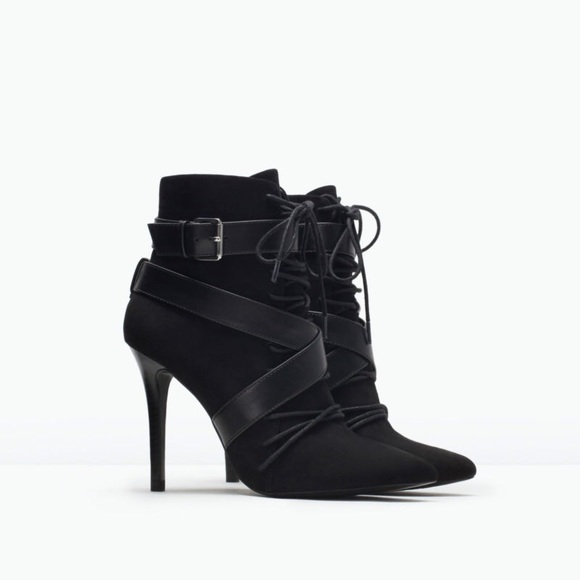 Zara Shoes - Zara black booties with heel